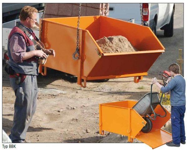 Haussanierung: | Baustoff-Behälter für Krane – ideal für effiziente Baustellen-Logistik