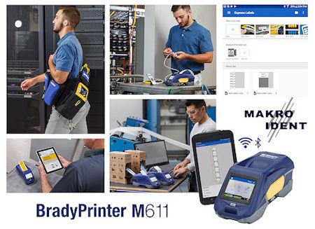 Industrietauglicher, tragbarer Etikettendrucker Brady M611  | Freie-Pressemitteilungen.de