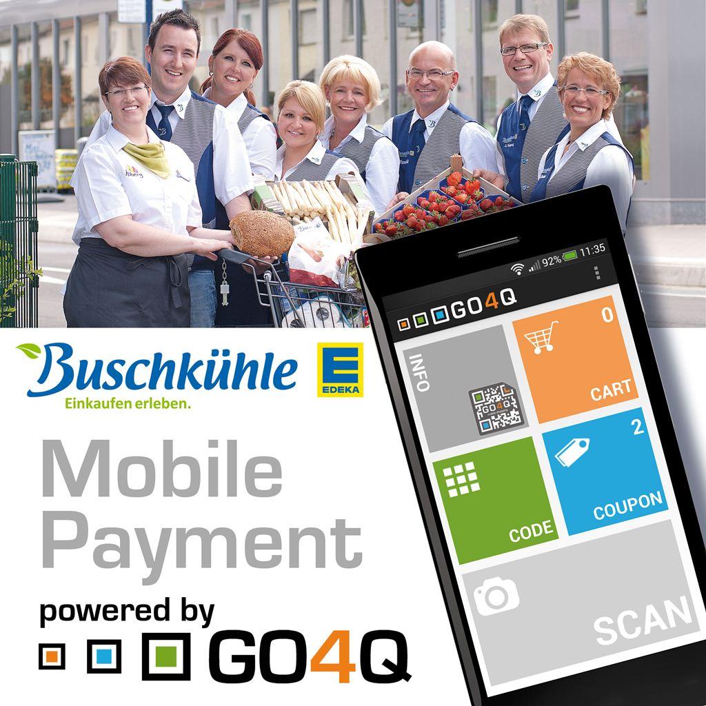 Mobile Payment mit GO4Q bei EDEKA Buschkühle