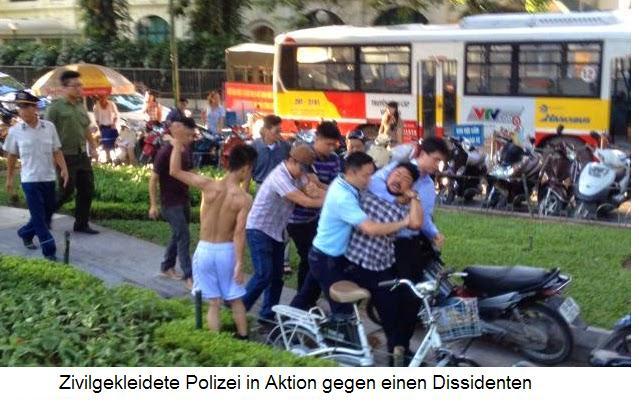 Internet Portal Center | Zivilgekleidete Polizei in Aktion gegen einen Dissidenten