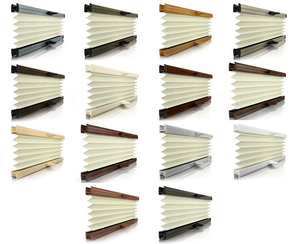 News - Central: Plissee Schienen in großer Farbvielfalt lassen Raum für Gestaltungsideen
