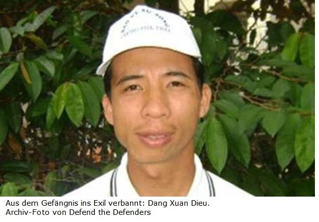Amerika News & Amerika Infos & Amerika Tipps | Aus dem Gefängnis ins Exil verbannt: Dang Xuan Dieu. Archiv-Foto von Defend the Defenders