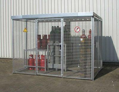 Technik-247.de - Technik Infos & Technik Tipps | Gasflaschen-Lager mit Dach für technische Gase