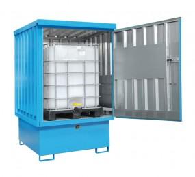 Technik-247.de - Technik Infos & Technik Tipps | Gefahrstoff-Depot für IBC-Container mit Auffangwanne