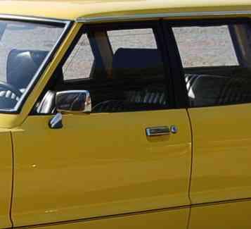 Geöffnetes Autofenster