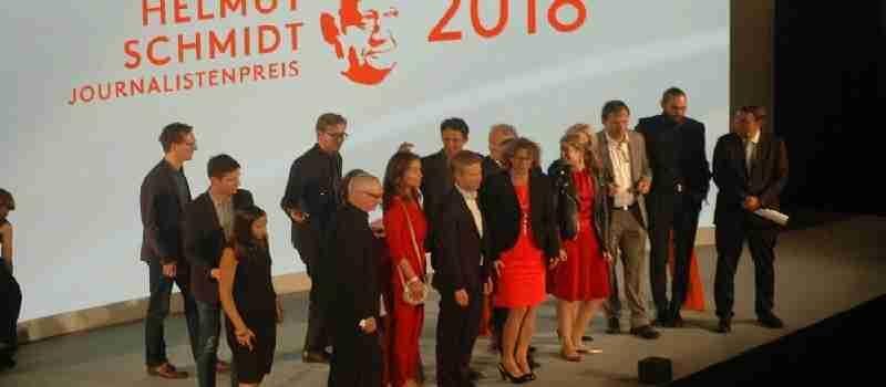 Verleihung des Helmut Schmidt Journalistenpreises und des Helmut Schmidt Nachwuchspreises 2018 im Hamburger ''Michel''!