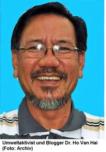 Ost Nachrichten & Osten News | Umweltaktivist und Blogger Dr. Ho Van Hai (Foto: Archiv)