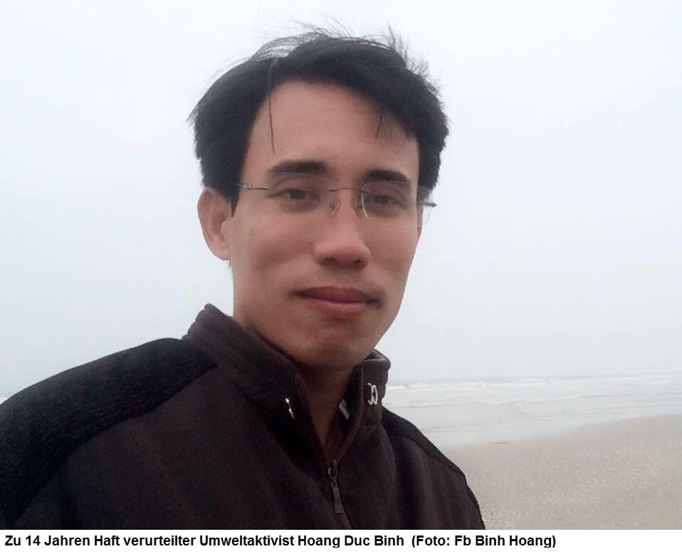 Medien-News.Net - Infos & Tipps rund um Medien | Zu 14 Jahren Haft verurteilter Umweltaktivist Hoang Duc Binh  (Foto: Fb Binh Hoang)