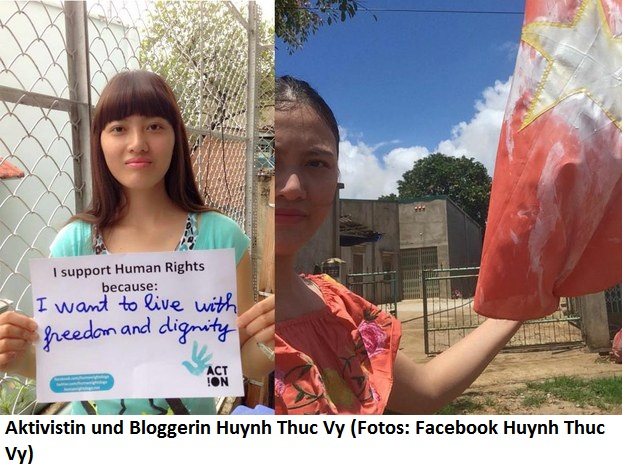 Aktivistin und Bloggerin Huynh Thuc Vy