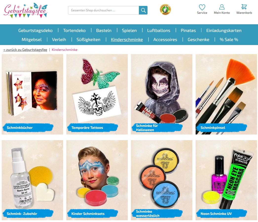 Shopping -News.de - Shopping Infos & Shopping Tipps | Riesenauswahl an Kinderschminke und kompletten Schminksets