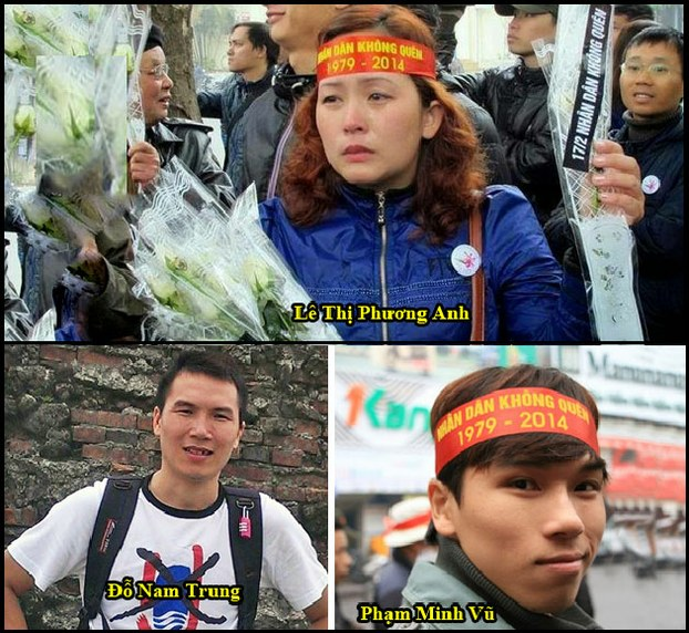 Asien News & Asien Infos & Asien Tipps @ Asien-123.de | Die drei verurteilten Aktivisten Le Thi Phuong Anh, Do Nam Trung und Pham Minh Vu