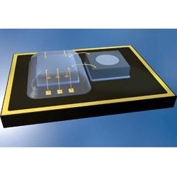 Auto News | Bild: Chip und Sensor eines MEMS: (Bild: DELO)