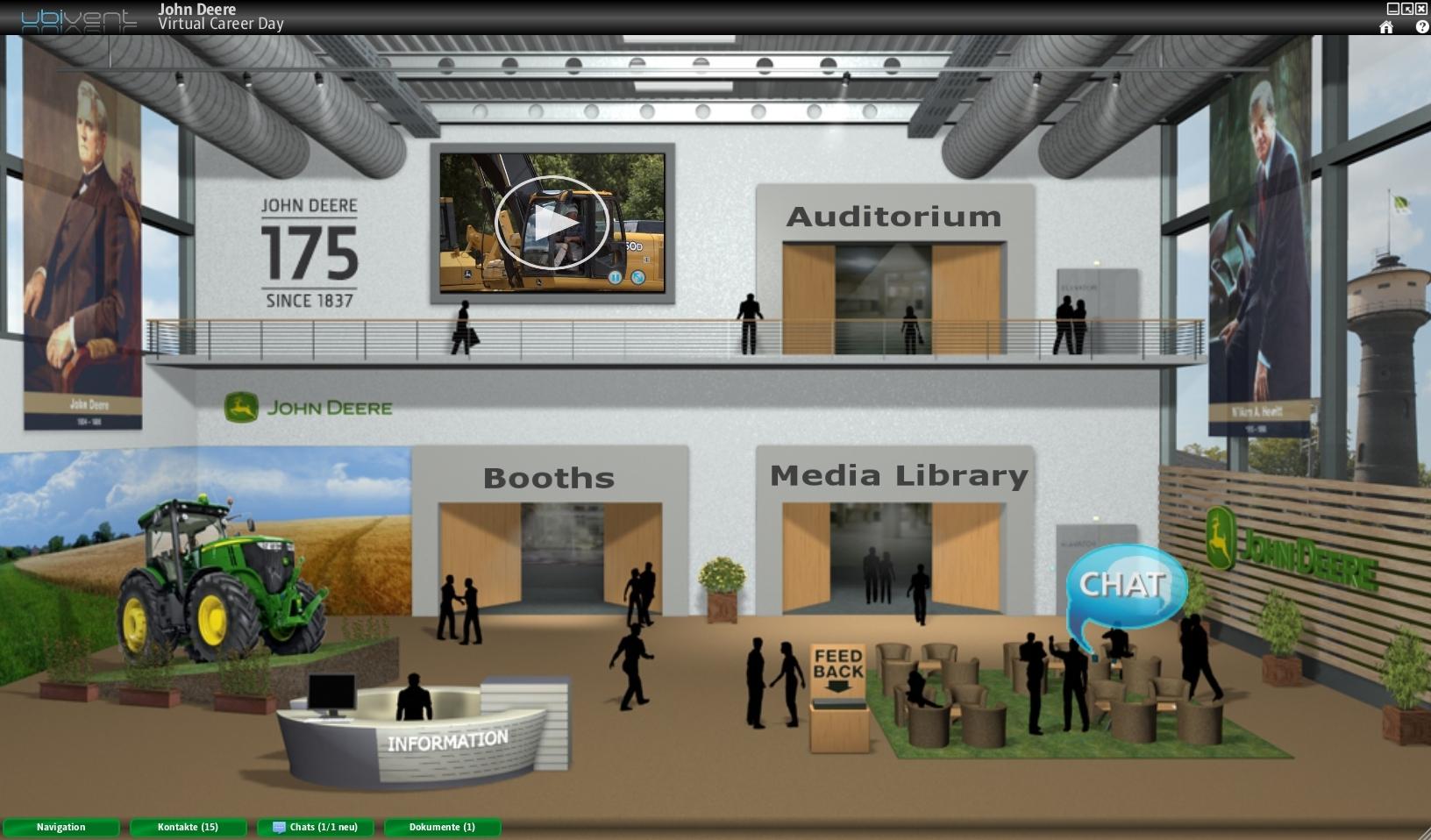 Forum News & Forum Infos & Forum Tipps | Mainhall eines virtuellen Events auf der ubivent Plattform