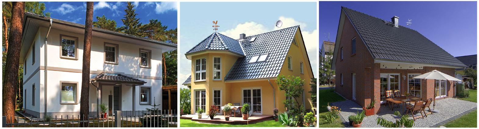 Fertighaus, Plusenergiehaus @ Hausbau-Seite.de | Eine Stadtvilla Lugana, ein Turmhaus sowie das Landhaus Wismar (v. l. n. r. – Abb. ähnlich) stehen Bauinteressierten am kommenden Wochenende zur Besichtigung offen. Foto: Roth Massivhaus