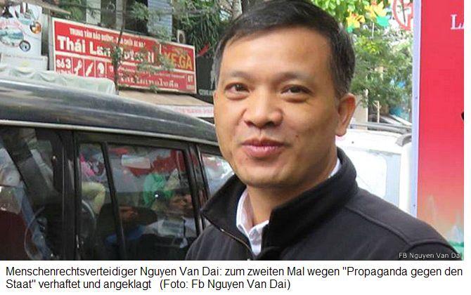 Vietnam-News.de - Vietnam Infos & Vietnam Tipps | Menschenrechtsverteidiger Nguyen Van Dai: zum zweiten Mal wegen