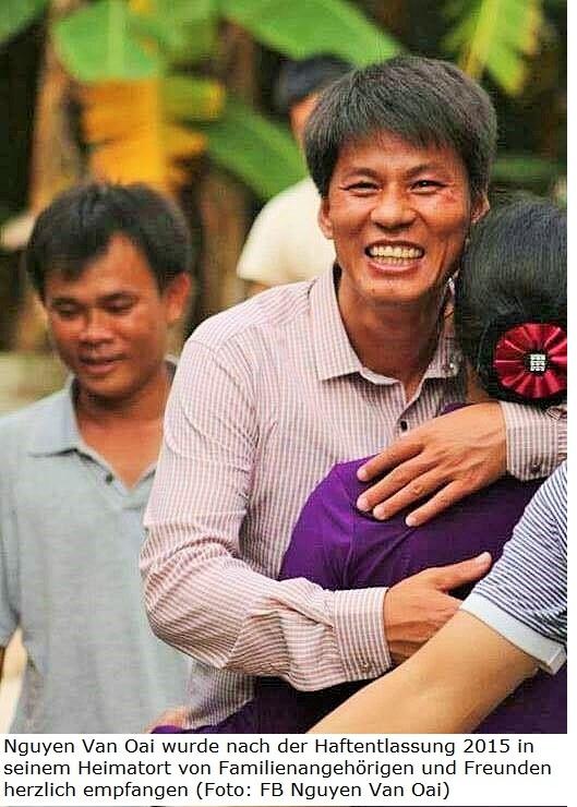 Amerika News & Amerika Infos & Amerika Tipps | Nguyen Van Oai wurde nach der Haftentlassung 2015 in seinem Heimatort von Familienangehörigen und Freunden herzlich empfangen (Foto: FB Nguyen Van Oai)