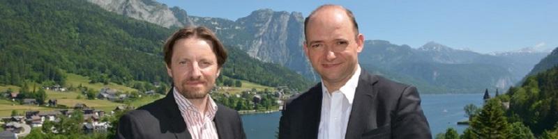 Deutsche-Politik-News.de | Kleine Zeitung Redakteur Ernst Sittinger (li.) und Politikberater Thomas Hofer