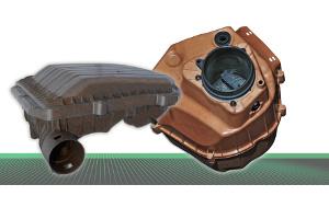 Auf der eCarTec zeigt Röchling Automotive unter anderem Bauteil-Prototypen aus Plantura