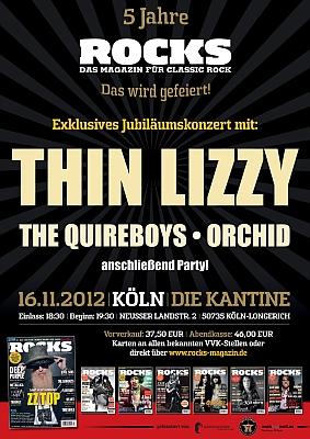 Tickets / Konzertkarten / Eintrittskarten | ROCKS Jubiläumskonzert in Köln