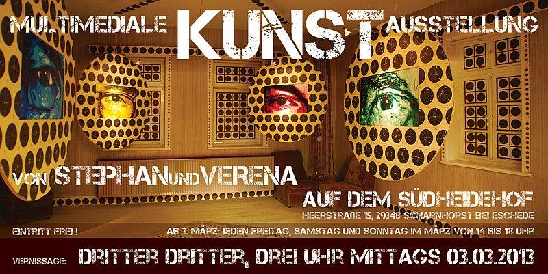 Medien-News.Net - Infos & Tipps rund um Medien | multimediale Kunst Ausstellung von STEPHANundVERENA auf dem Südheidehof in Scharnhorst bei Eschede