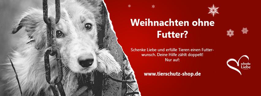 Tierschutz-Shop: Weihnachtsaktion für Tierheimtiere