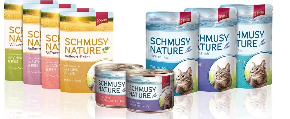 Neue Produkte @ Produkt-Neuheiten.Info | Die neuen Produktlinien: Schmusy Nature Vollwert-Flakes und Meeres-Fisch.