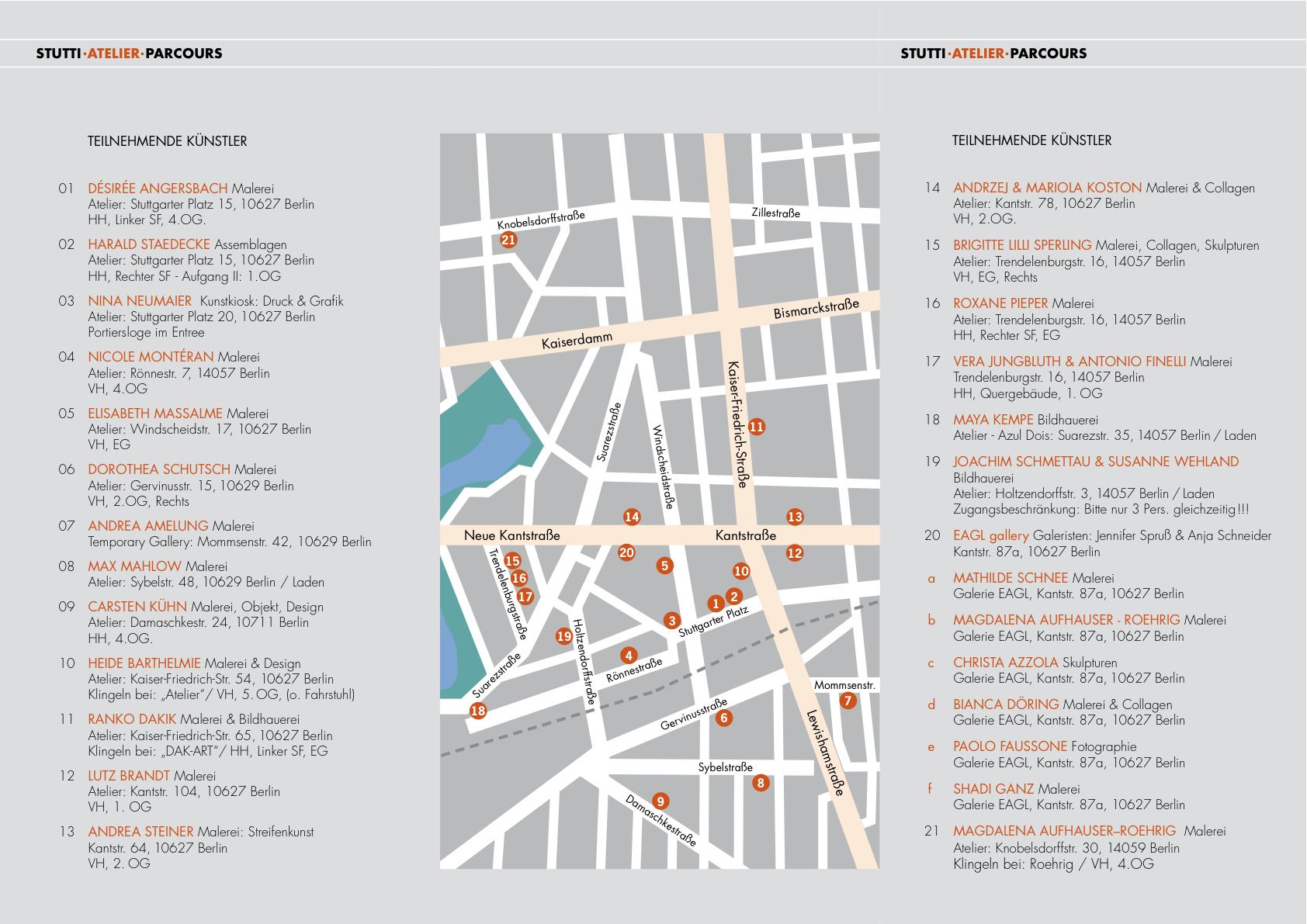 Tickets / Konzertkarten / Eintrittskarten | Stutti Atelier Parcours 2011