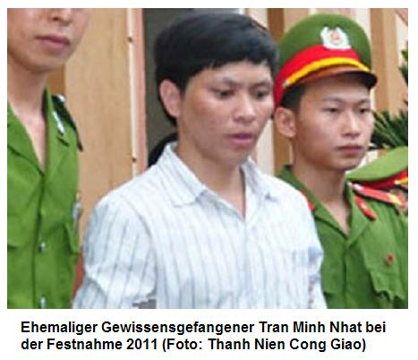 Afrika News & Afrika Infos & Afrika Tipps @ Afrika-123.de | Ehemaliger Gewissensgefangener Tran Minh Nhat bei der Festnahme 2011 (Foto: Thanh Nien Cong Giao)
