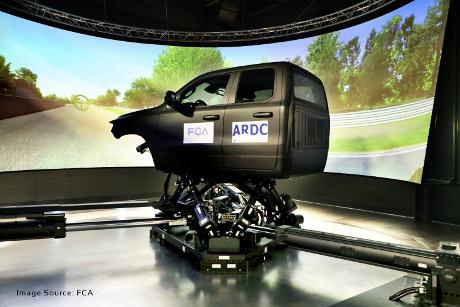 Grossbritannien-News.Info - Großbritannien Infos & Großbritannien Tipps | Fiat Chrysler Automobiles nutzt den DiM250-Simulator von VI-grade für das kürzlich in Ontario, Kanada, eröffnete VDS-Labor (Vehicle Dynamics Simulator).