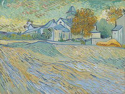 Paris-News.de - Paris Infos & Paris Tipps | Vincent Van Gogh - Vue de l'asile et de la Chapelle de Saint-Rémy
