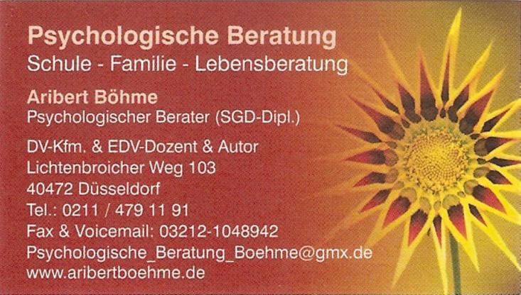 Duesseldorf-Info.de - Düsseldorf Infos & Düsseldorf Tipps | Psychologische Beratung, Aribert Böhme