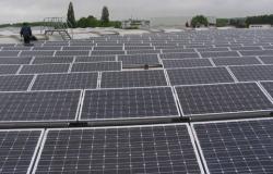 Alternative & Erneuerbare Energien News: Foto: Solarpanels auf den Dächern der Firma Kopierer-Welt GmbH.