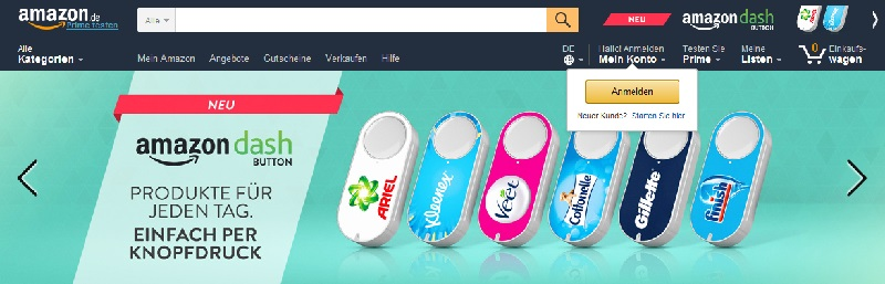 Deutsche-Politik-News.de | Amazon Dash-Buttons Screenshot 2016