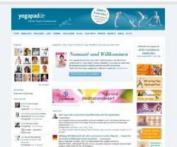 Foren News & Foren Infos & Foren Tipps |  Foto: Startseite von yogapad.de.