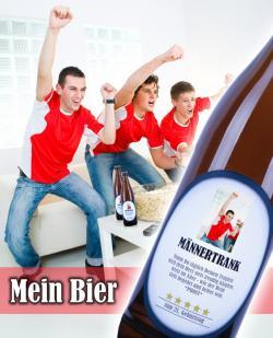 Bier-Homepage.de - Rund um's Thema Bier: Biere, Hopfen, Reinheitsgebot, Brauereien. | Foto: Bier mit eigenem Etikett.