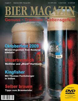 Bier-Homepage.de - Rund um's Thema Bier: Biere, Hopfen, Reinheitsgebot, Brauereien. | Bier-Homepage - Biere, Hopfen, Reinheitsgebot, Brauereien. Foto: Titelbild der ersten Ausgabe BIER MAGAZIN ( Dezember 2009 - Februar 2010 ).