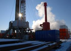 Alternative & Erneuerbare Energien News: Foto: Die Pumpversuche brachten es an den Tag: 86 Grad heißes Thermalwasser.