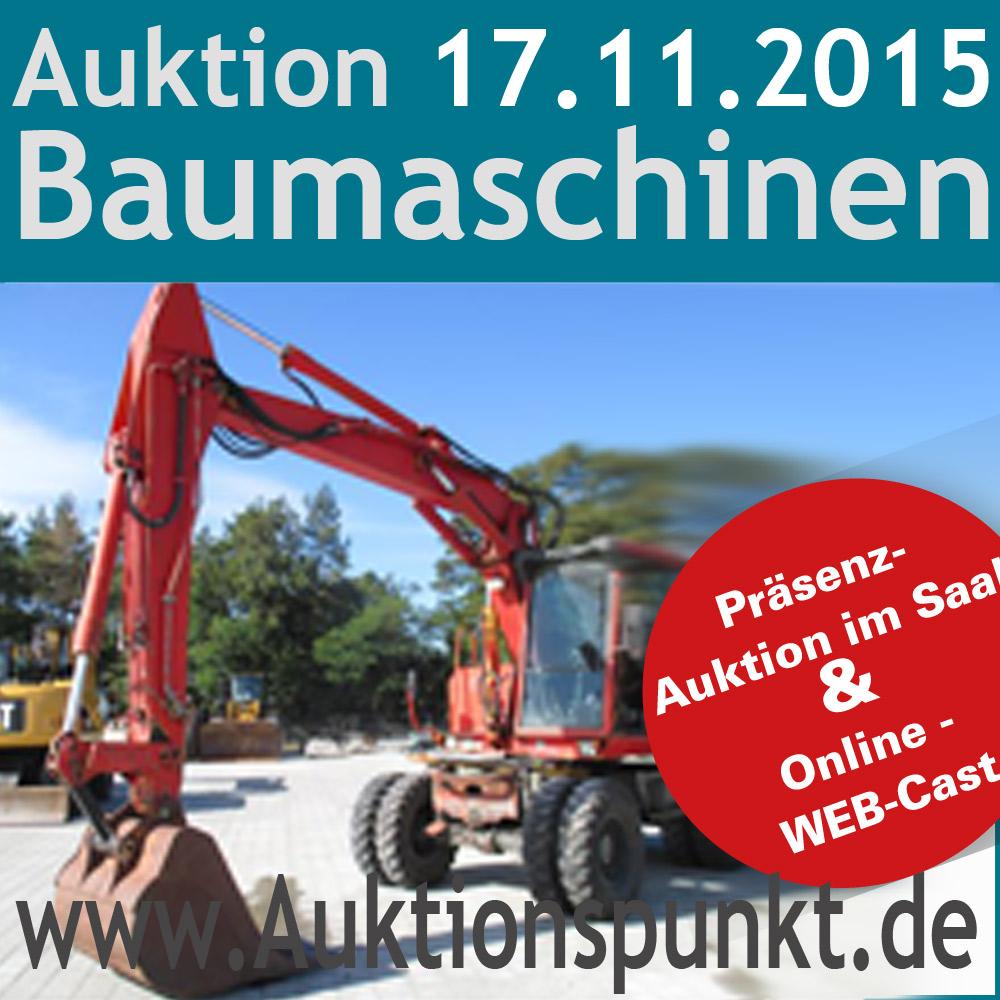 Tickets / Konzertkarten / Eintrittskarten | Ankündigung Baumaschinen-Auktion am 17.11.2015