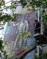 Ost Nachrichten & Osten News | Foto: Seit den Vorarbeiten im September 2010 ist das Wandbild wieder gut sichtbar. Bild: fkww.de.