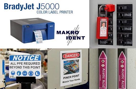 Internet Portal Center | BradyJet J5000 Farbetikettendrucker für die Sicherheits- und Gebäudekennzeichnung