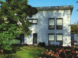 Fertighaus, Plusenergiehaus @ Hausbau-Seite.de | Hausbau & Einfamilienhaus @ Hausbau.Seite.de - Foto: Fassadengestaltung mit ALUKON-ZipTex.