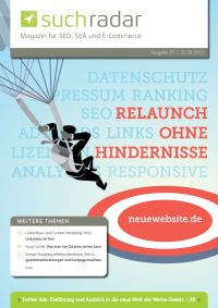 Suchmaschinenoptimierung / SEO - Artikel @ COMPLEX-Berlin.de | Foto: Cover von Ausgabe 55 vom deutschsprachigen Suchmaschinen-Magazin Suchradar