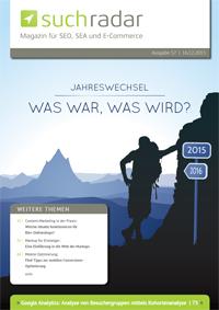 Suchmaschinenoptimierung & SEO - Artikel @ COMPLEX-Berlin.de | Foto: Cover von Ausgabe 57 (Dezember 2015) vom deutschsprachigen Suchmaschinen-Magazin Suchradar