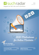 Suchmaschinenoptimierung & SEO - Artikel @ COMPLEX-Berlin.de | Foto: Cover Ausgabe 62 (26. Oktober 2016) vom deutschsprachigen Suchmaschinen-Magazin Suchradar