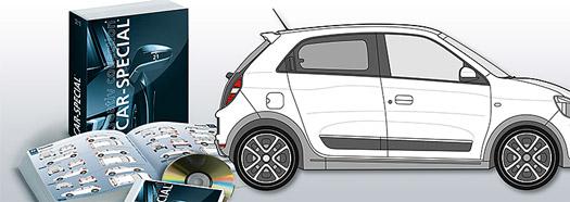 Auto News | Alle aktuellen Fahrzeugvorlagen uebersichtlich im Handbuch und auf DVD