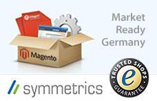 Open Source Shop Systeme | Foto: symmetrics veröffentlich in enger Zusammenarbeit mit Trusted Shops ein deutsches Lokalisierungskomplettpaket für Magento Commerce. Dieses steht ab sofort bei Magentoconnect frei zum Download bereit.