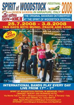Tickets / Konzertkarten / Eintrittskarten | Foto: Plakat des 'Spirit of Woodstock Festival 2008'.
