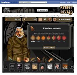 Browsergames News: Foto: Wie bei Pennergame ist es das Ziel von StreetRivals, die virtuelle Spielfigur durch Betteln, das Sammeln von Pfandflaschen und das Erlernen von Musikinstrumenten vom Obdachlosen zum Schlossbesitzer aufsteigen zu lassen.