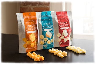 Medien-News.Net - Infos & Tipps rund um Medien | Moon Cheese Trockenkäsesnackprodukt von EnWave