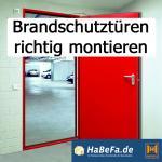 Fertighaus, Plusenergiehaus @ Hausbau-Seite.de | Foto: Richtige Montage von Brandschutztüren.